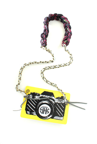 Sarah Frances Kuhn Deluxe Camera Strap in Jakarta Nights Special White on Teqtique