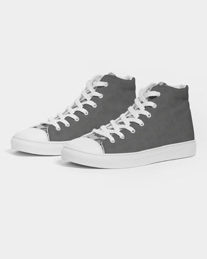 Grey Tongue Women's Hightop Canvas Shoe