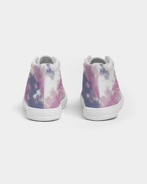 Tye Dye Kids Hightop Canvas Shoe