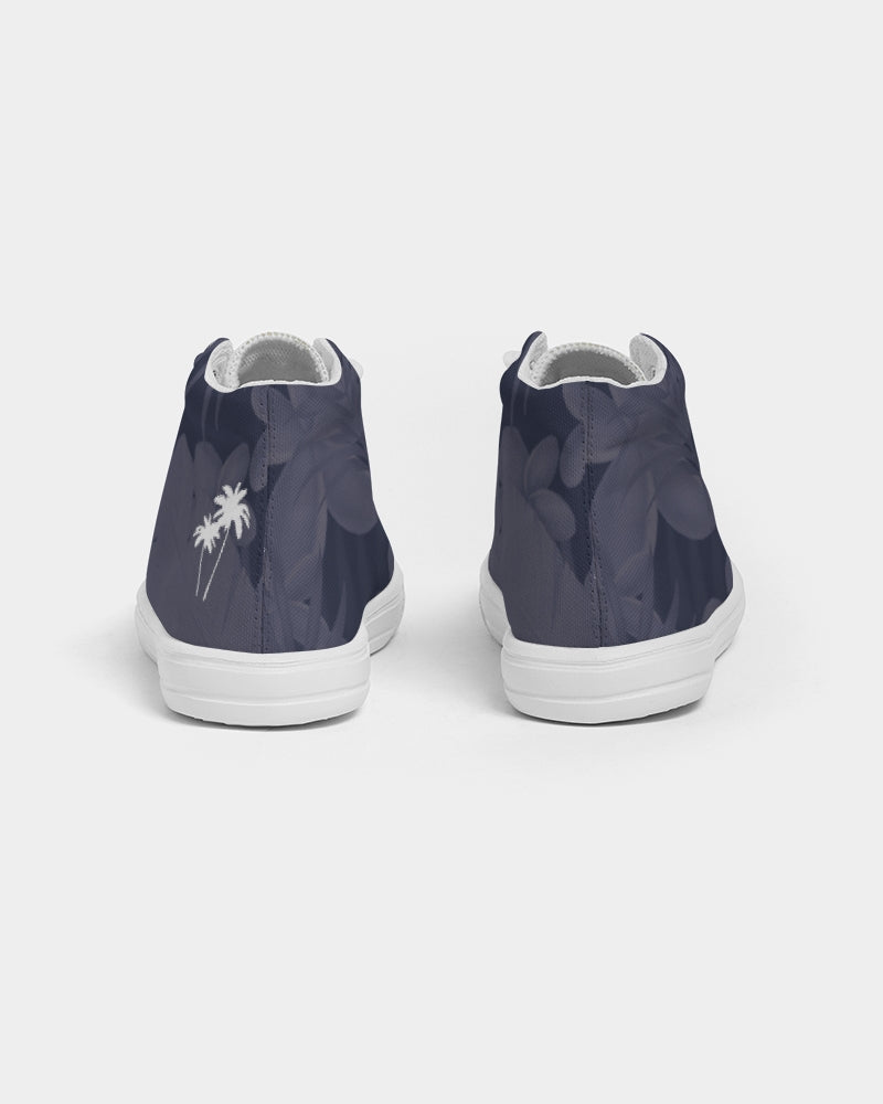 Navy Paradise Kids Hightop Canvas Shoe