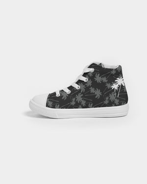 Black and White Kids Hightop Canvas Shoe