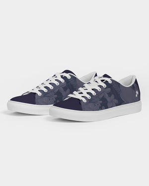 Navy Paradise Men's Faux-Leather Sneaker