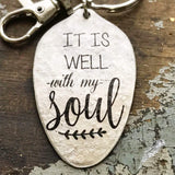 It is Well With My Soul Spoon Keychain by Kyleemae Designs