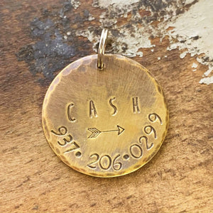 brass pet tag kyleemae designs