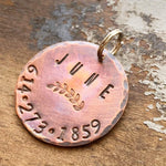 copper dog tag kyleemae designs