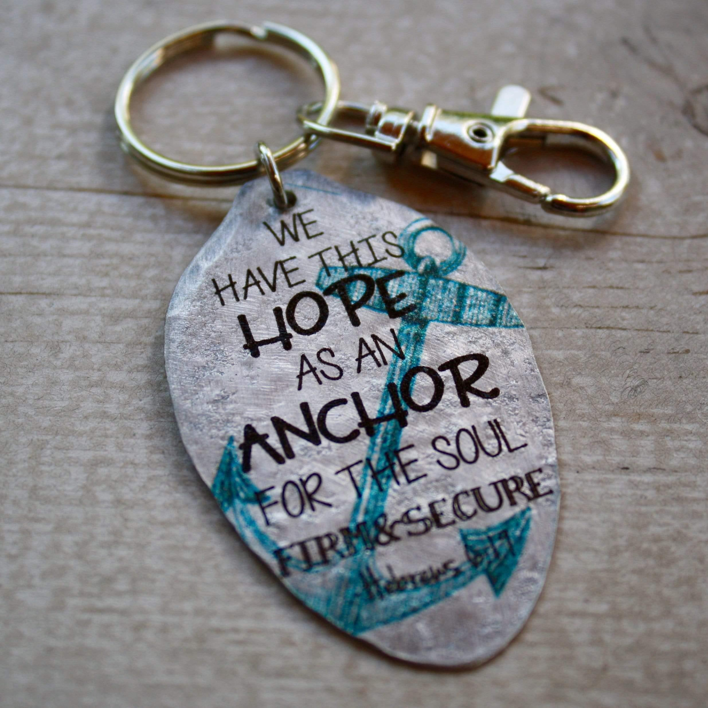 hope as an anchor keychain kyleemae designs