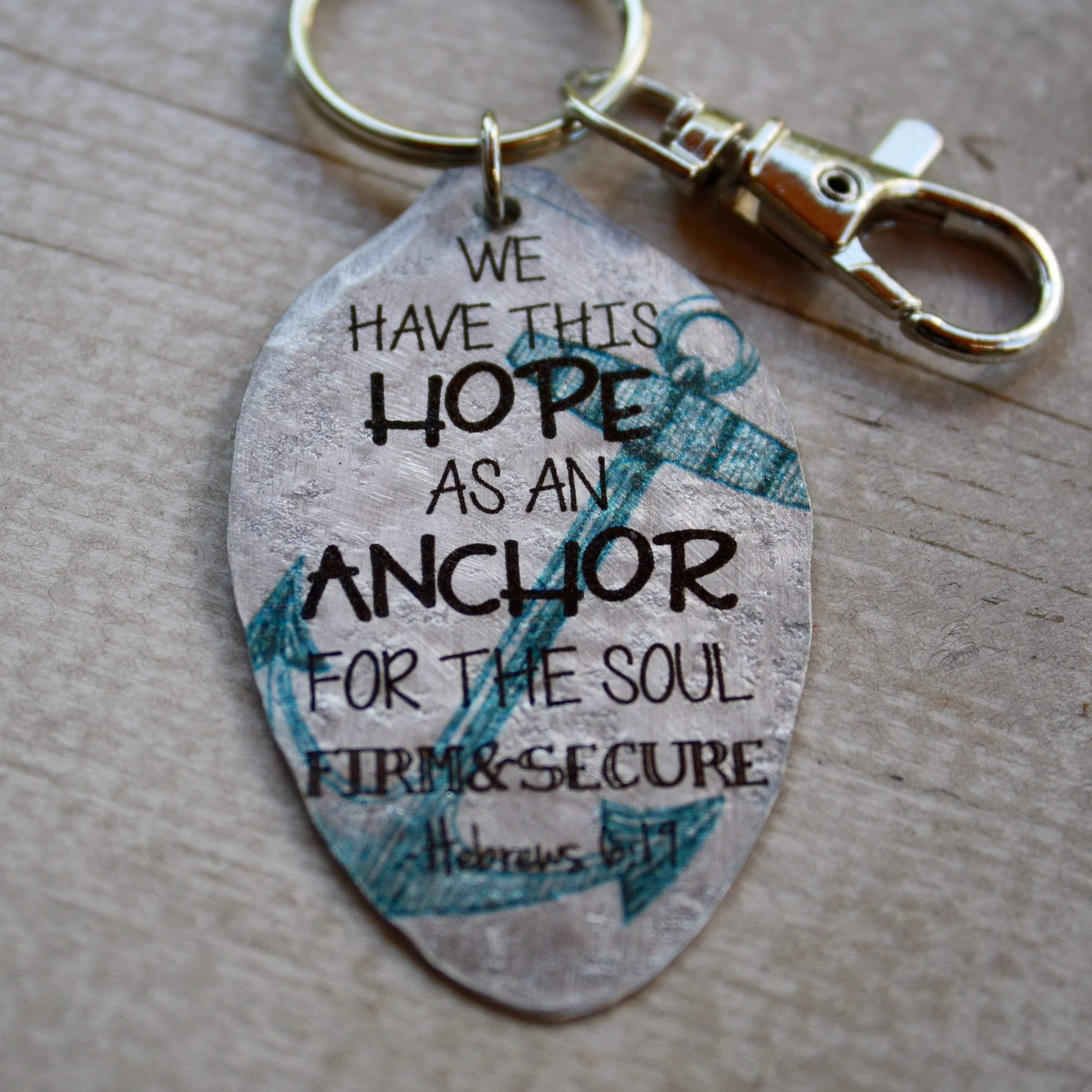 hebrews 6 19 keychain