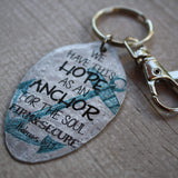 Hope as an anchor Hebrews 6:19 Vintage spoon keychain