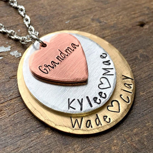Gifts for Grandma, Personalized Grandma Engraved Custom Jewelry, Nana Necklace