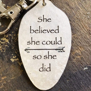 she believed kyleemae designs keychain