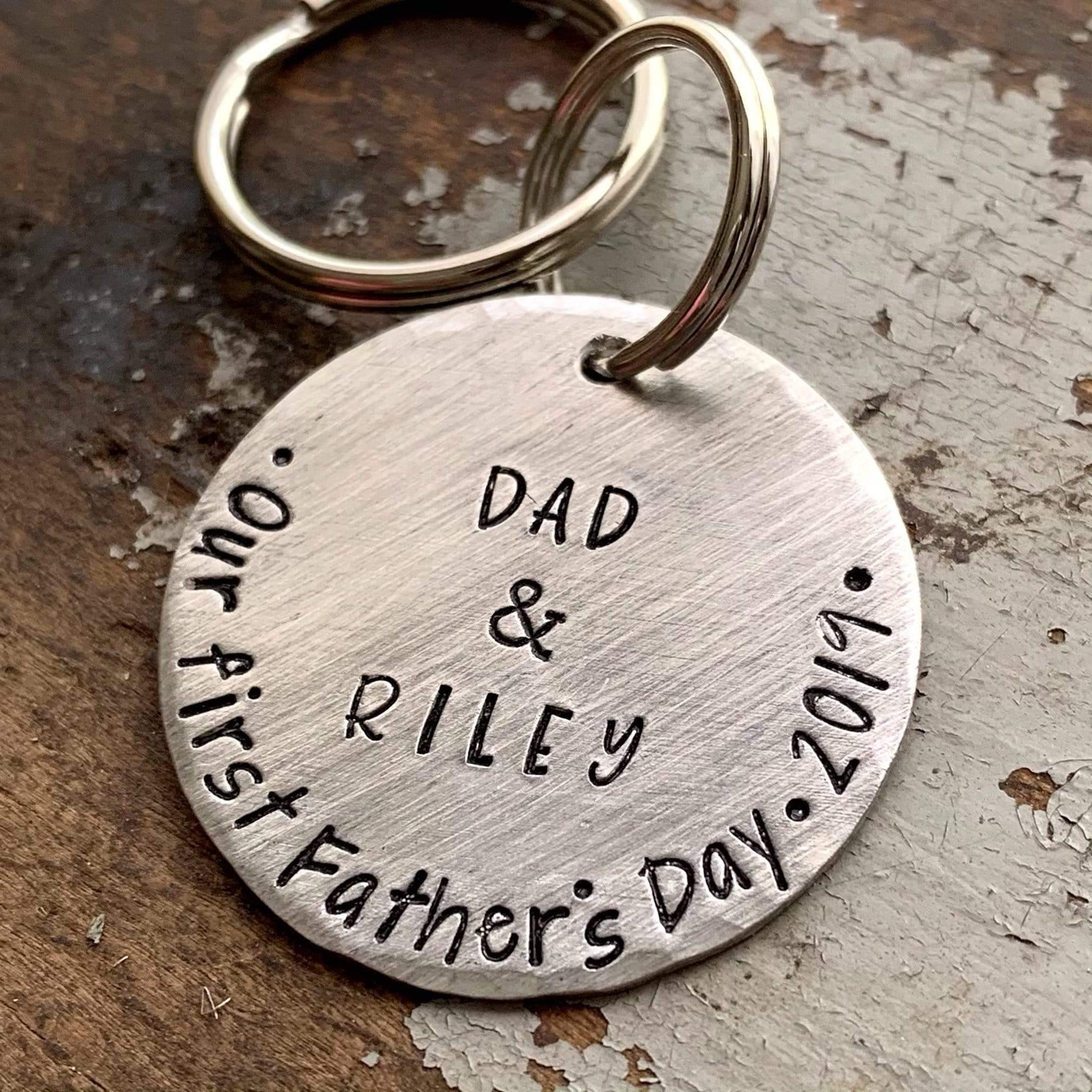 First Father's Day Keychain Gift from Daughter to Dad