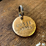 Small Brass Pet Tag for Dog or Cat