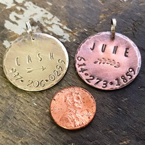 copper and brass pet tags kyleemae designs