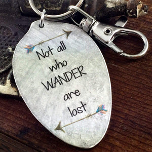 not all who wander keychain kyleemae designs