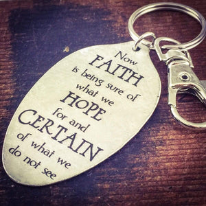 Hebrews 11:1 spoon keychain by kyleemae designs