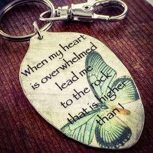 when my heart is overwhelmed keychain kyleemae designs