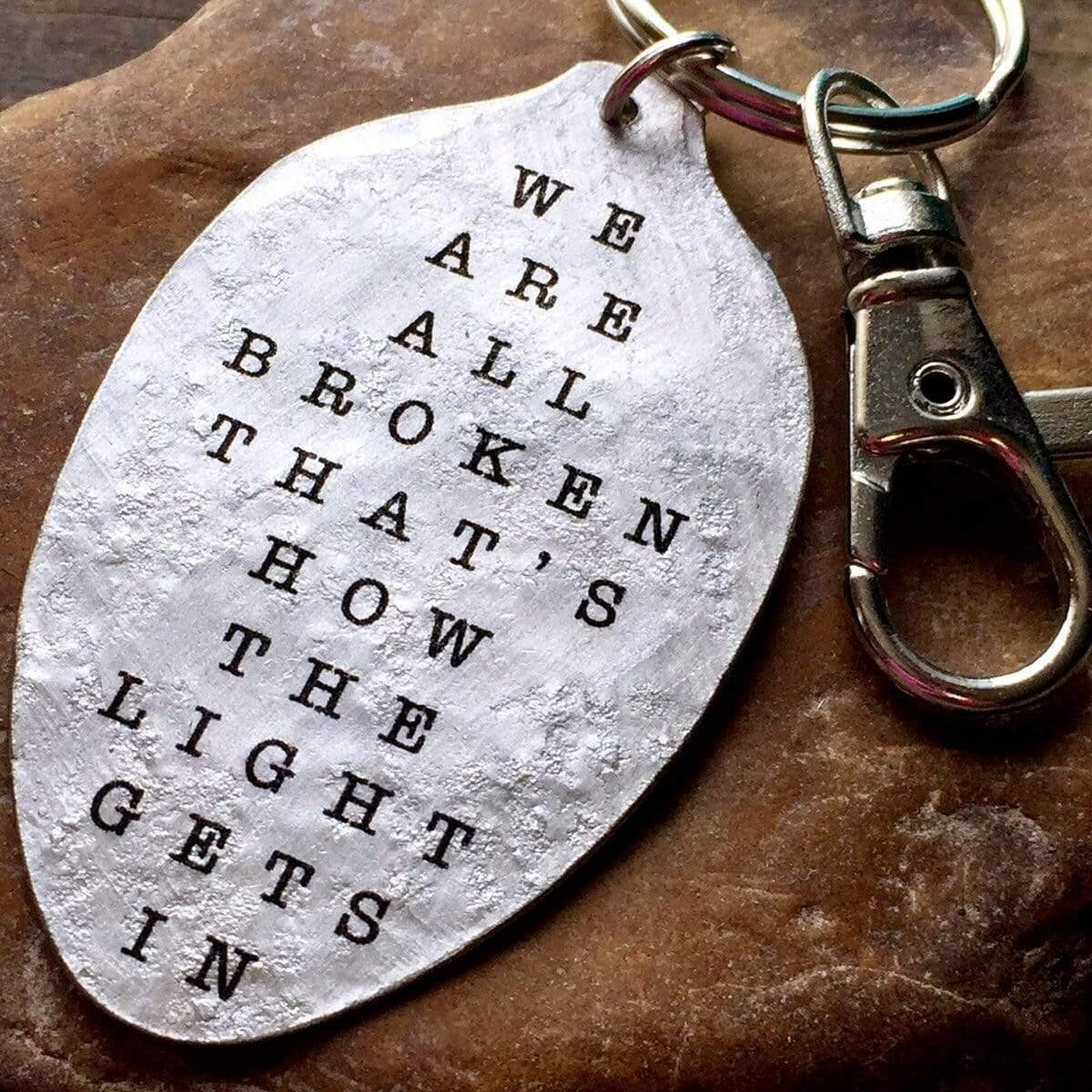 we are all broken keychain kyleemae designs