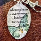 Psalm 61:2 When my heart is overwhelmed Christian Keychain
