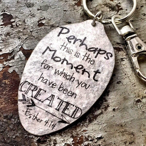 perhaps this is the moment spoon keychain kyleemae designs