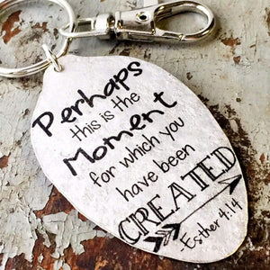 spoon keychain esther 4 14 kyleemae designs
