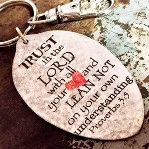 trust in the Lord keychain