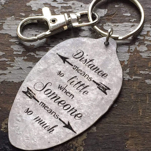 distance means little spoon keychain kyleemae designs