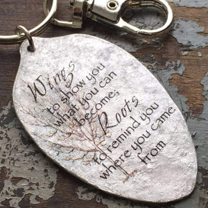 roots and wings keychain kyleemae designs
