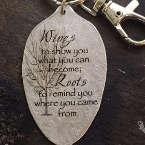 graduation keychain wings kyleemae designs