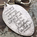 1 Peter 5:10 spoon keychain kyleemae designs