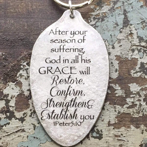 God will restore scripture keychain kyleemae designs
