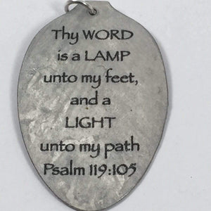 Psalm 119:105 Thy Word is a Lamp unto my feet Scripture Keychain