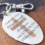 phil 4:13 keychain kyleemae designs