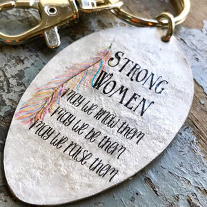 strong women keychain kyleemae designs