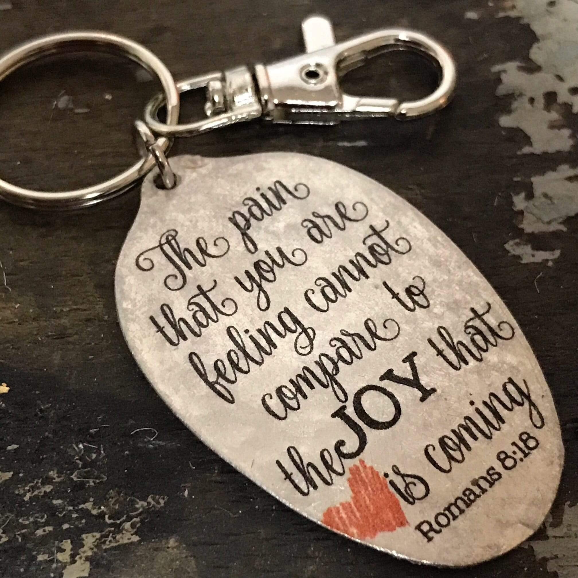 faith gift the pain you are feeling keychain kyleemae designs