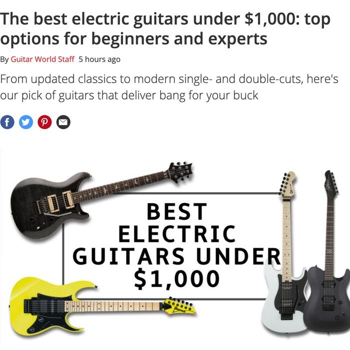 The best electric guitars under $1,000