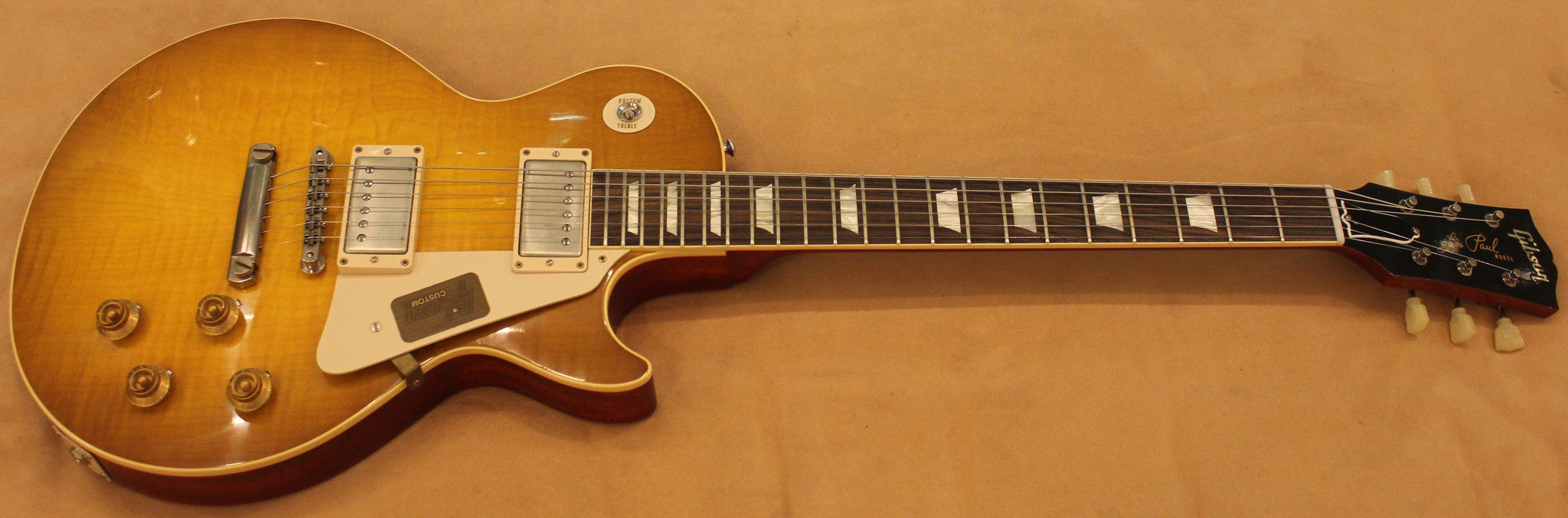 Gibson Les Paul custom shop 1958 reissue Lemonburst Gibson - HIENDGUITAR.COM