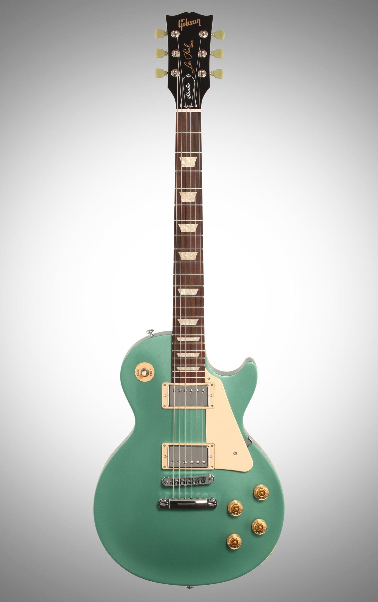 Gibson 2016 Les Paul Studio T Electric Guitar (with Case), Inverness Green Gibson - HIENDGUITAR.COM