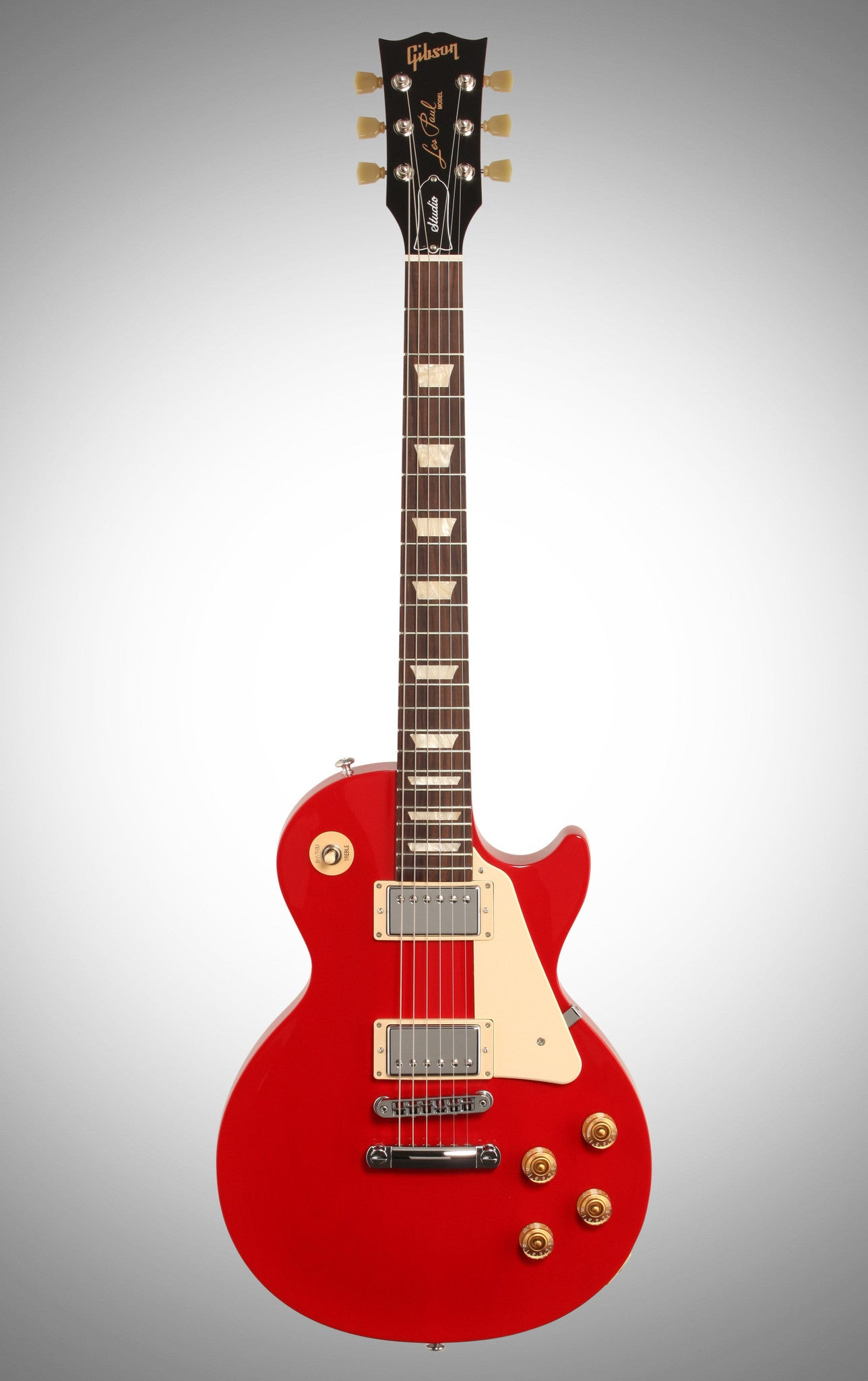 Gibson 2016 Les Paul Studio T Electric Guitar (with Case), Red Rocker - HIENDGUITAR   Gibson gibson2016