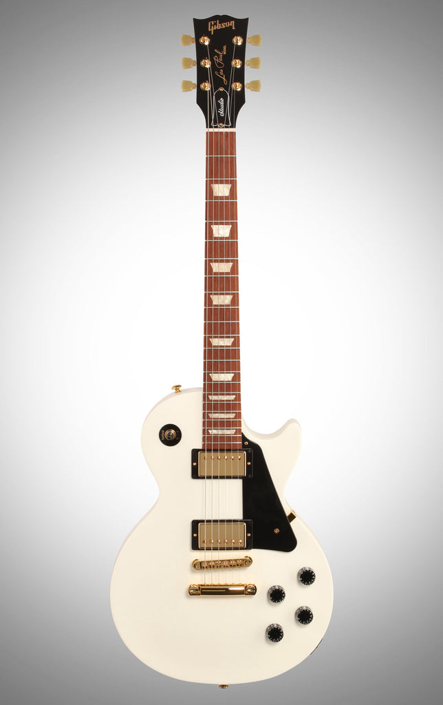 jual Gibson 2016 Les Paul Studio T Electric Guitar , Alpine White, with Gold Hardware