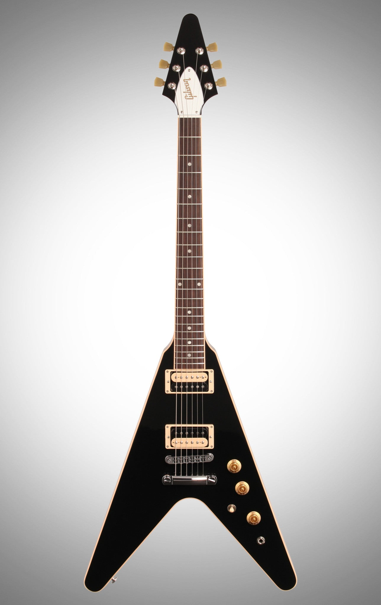 Gibson 2016 Flying V Pro T Electric Guitar (with Gig Bag), Ebony Gibson - HIENDGUITAR.COM
