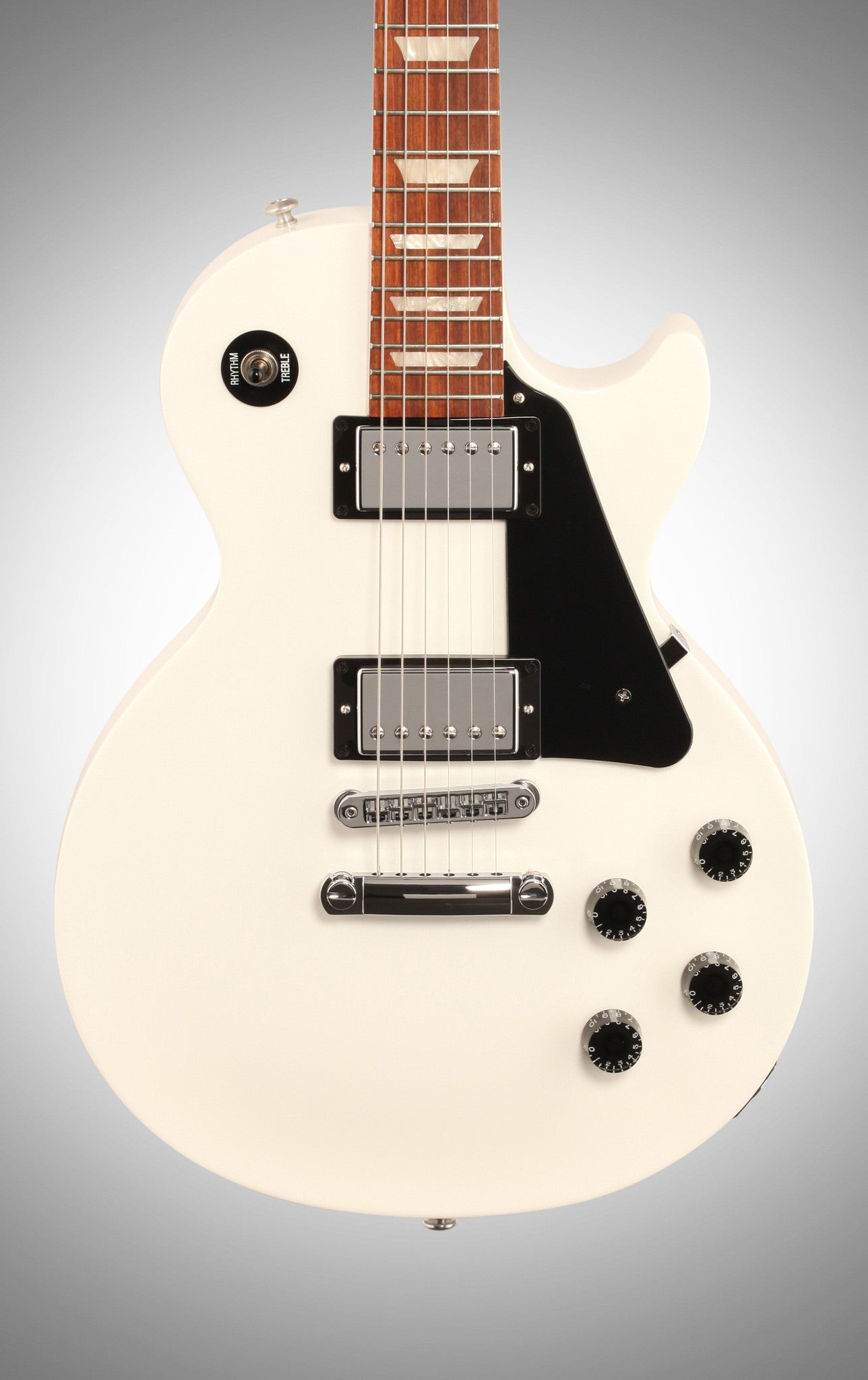 Gibson 2016 Les Paul Studio T Electric Guitar (with Case), Alpine White Gibson - HIENDGUITAR.COM