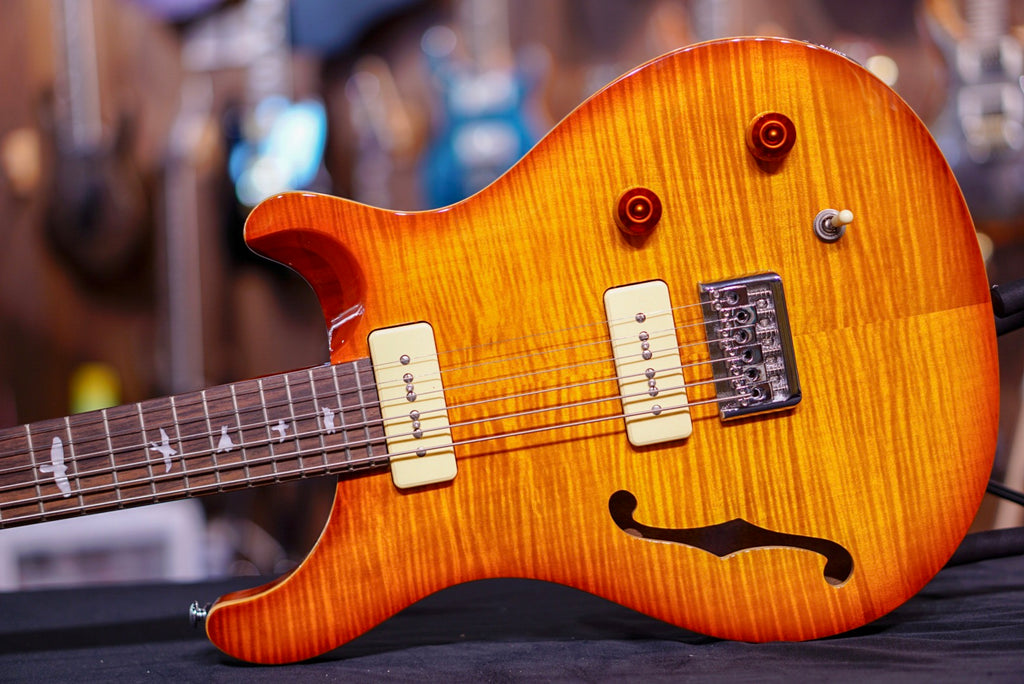 PRS SE 277 Semi Hollow Baritone Soapbar in Vintage Sunburst 2018