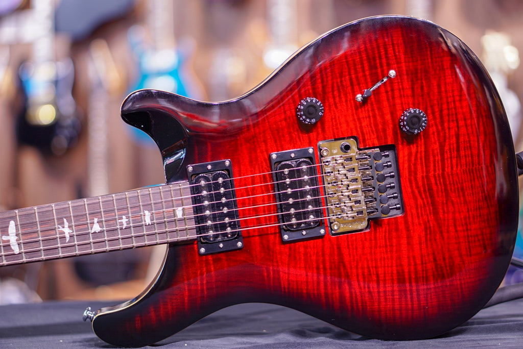 PRS SE Custom 24 Floyd Rose in fire red 2018