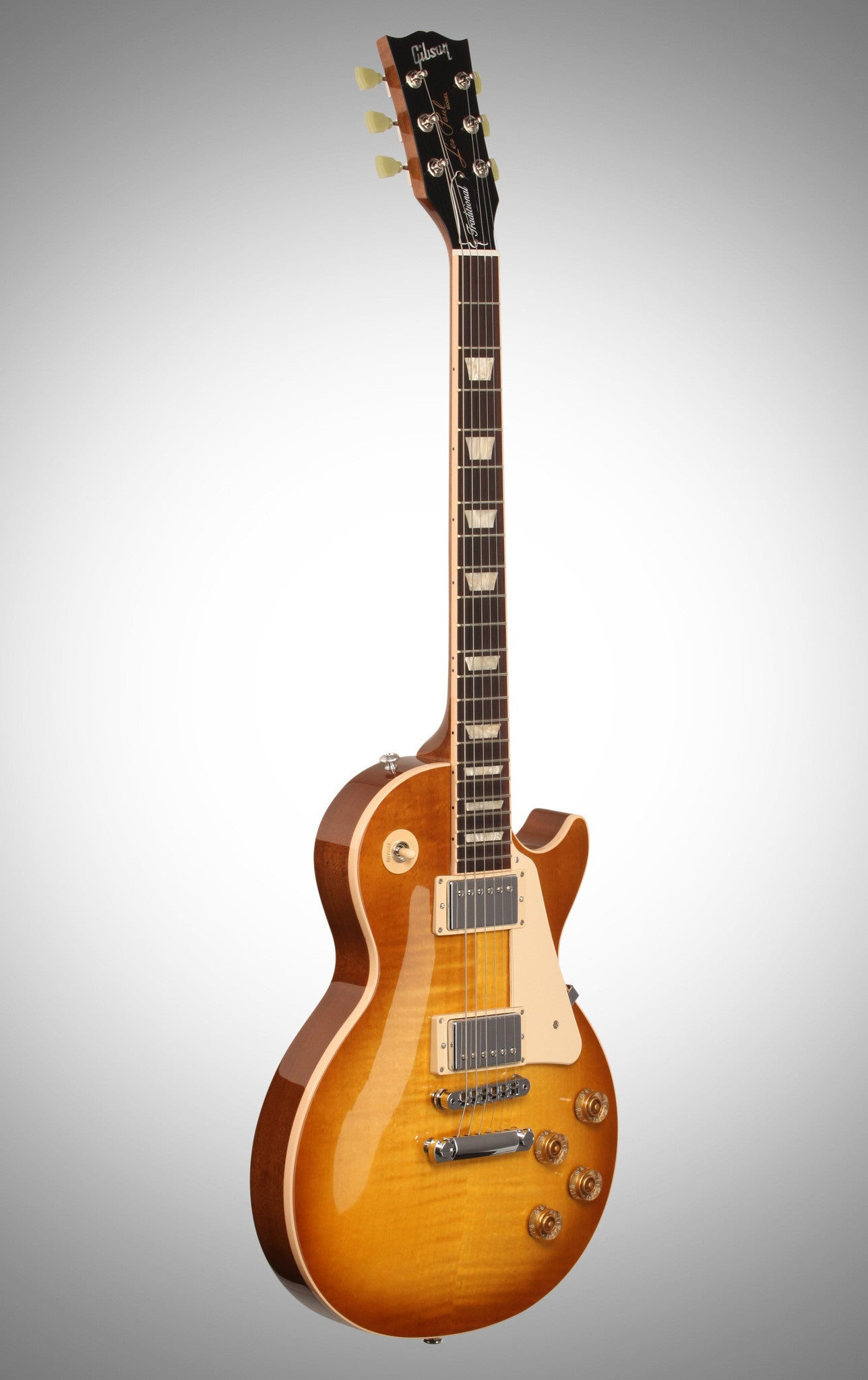 Gibson 2016 Les Paul Traditional Plus T Electric Guitar (with Case), Honeyburst Gibson - HIENDGUITAR.COM