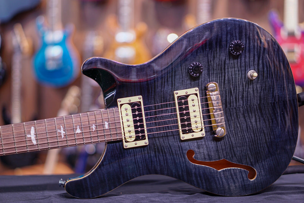 PRS SE Custom 22 Semi-Hollow - Gray Black 2017