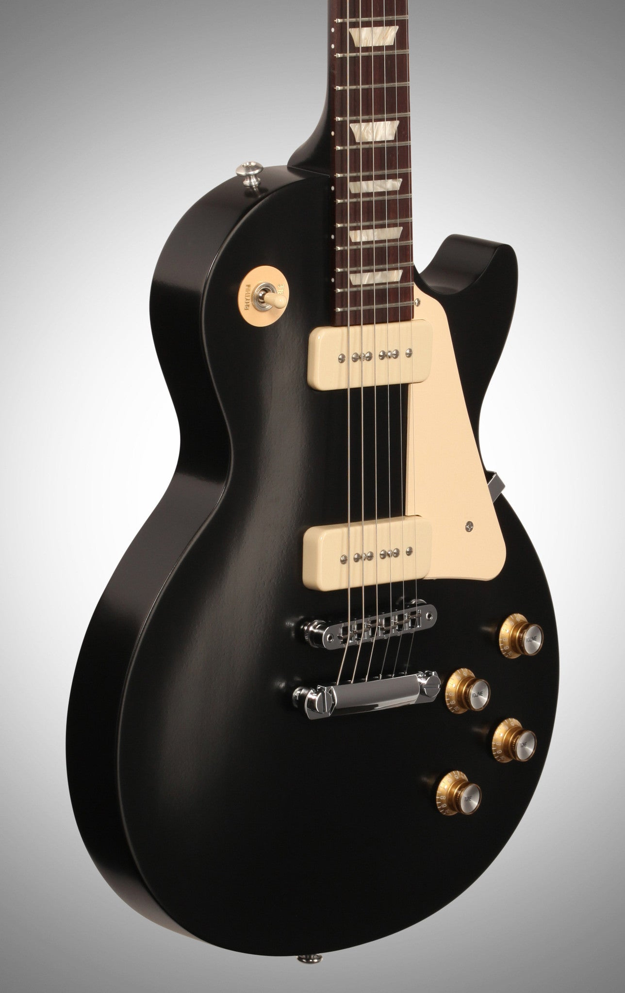 Gibson 2016 Les Paul '60s Tribute T Electric Guitar (with Gig Bag), Ebony Gibson - HIENDGUITAR.COM