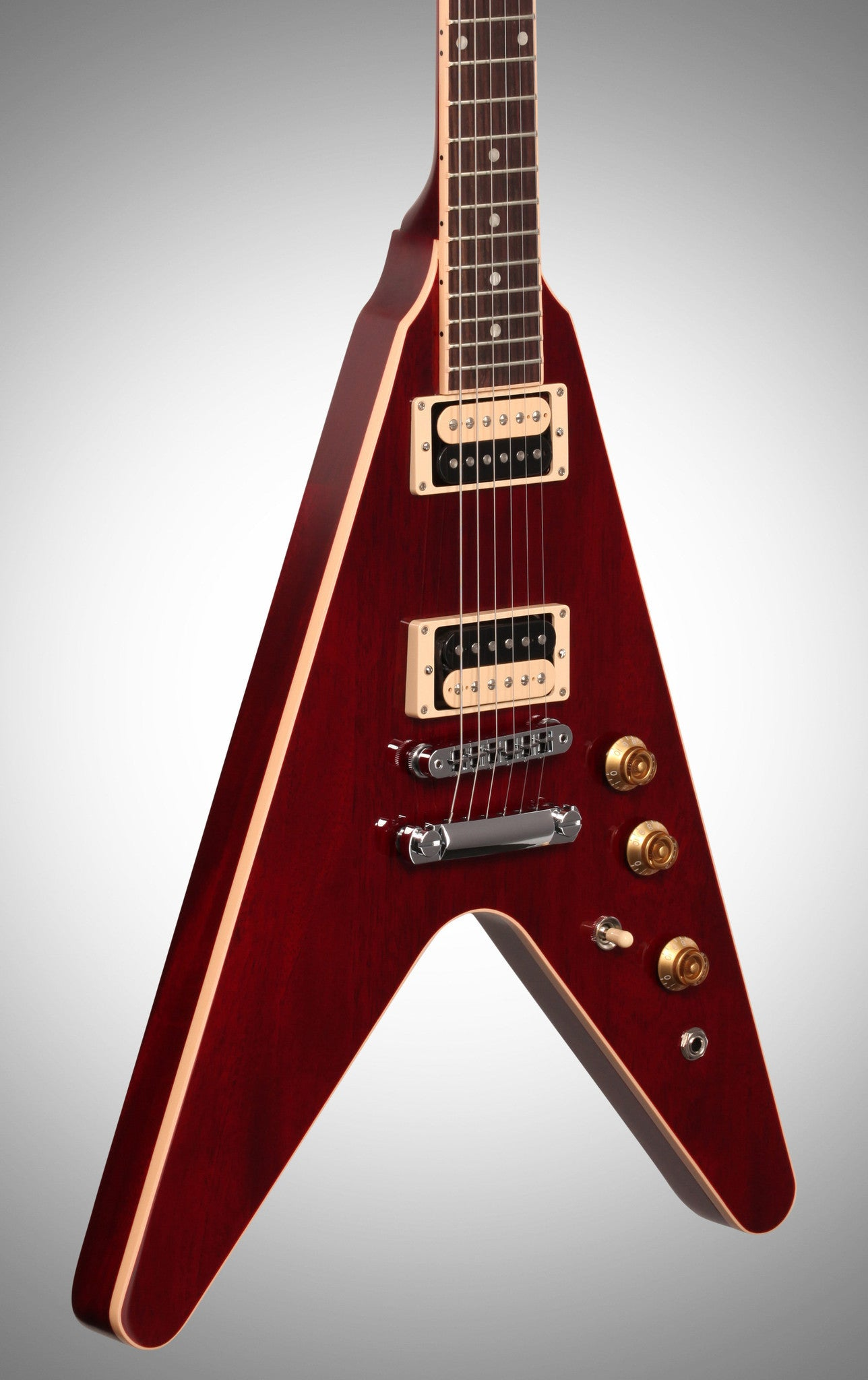 Gibson 2016 Flying V Pro T Electric Guitar (with Gig Bag), Wine Red - HIENDGUITAR   Gibson GUITAR