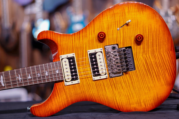 PRS SE Custom 24-Floyd Rose Tobacco Sunburst