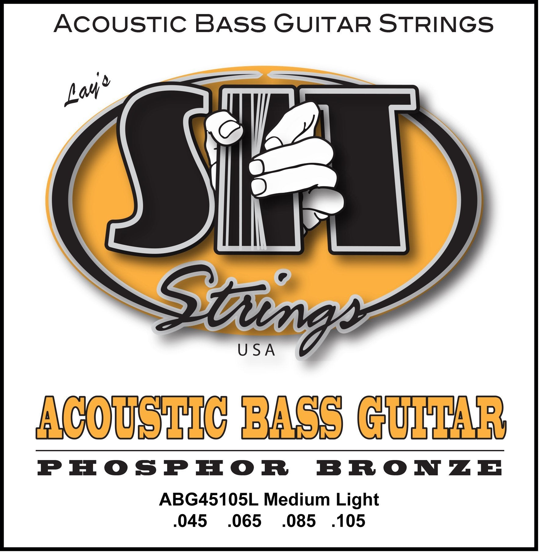 ABG45105L MEDIUM-LIGHT ACOUSTIC PHOSPHOR BRONZE BASS SIT STRING SIT - HIENDGUITAR.COM