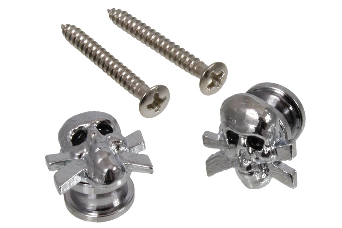 AP-6676 Skull Strap Buttons - HIENDGUITAR   GROVER MUSICAL PRODUCTS, INC. Hardware